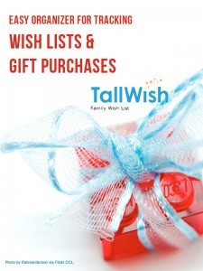Easy Organizer for Tracking Wish Lists & Gift Purchases
